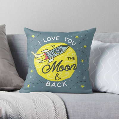 I Love You to the Moon and Back Pillow-W.FRANCIS