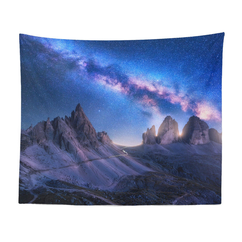 Mountain Tapestry Galaxy Tapestry Mountain Wall Tapestry Galaxy Wall Tapestry Mountain Wall Decor Mountain Gift Mountain Wall Art