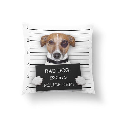 Jack Russell Throw Pillow-W.FRANCIS