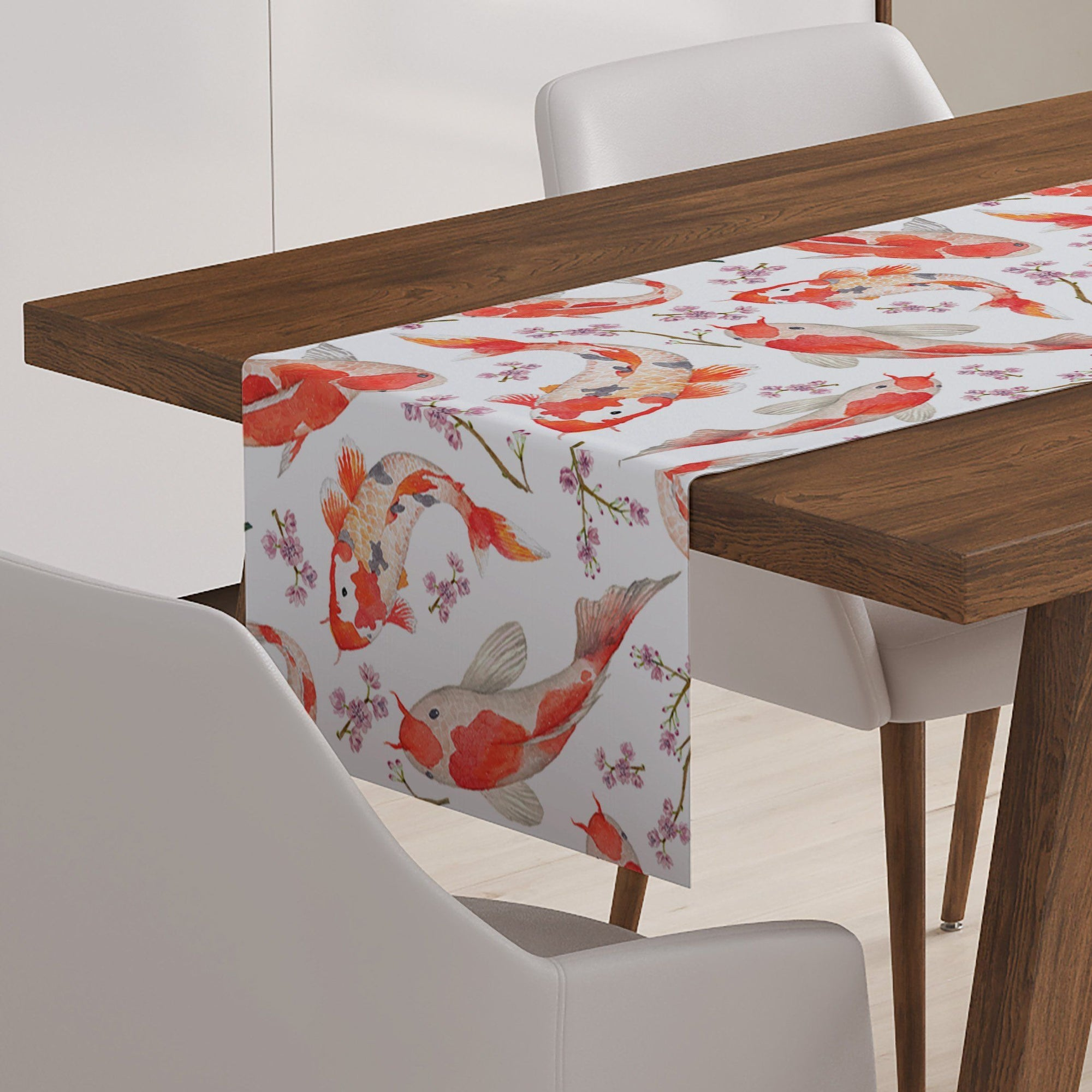 Japanese Koi Fish Table Runner - Table Runners - W.FRANCIS