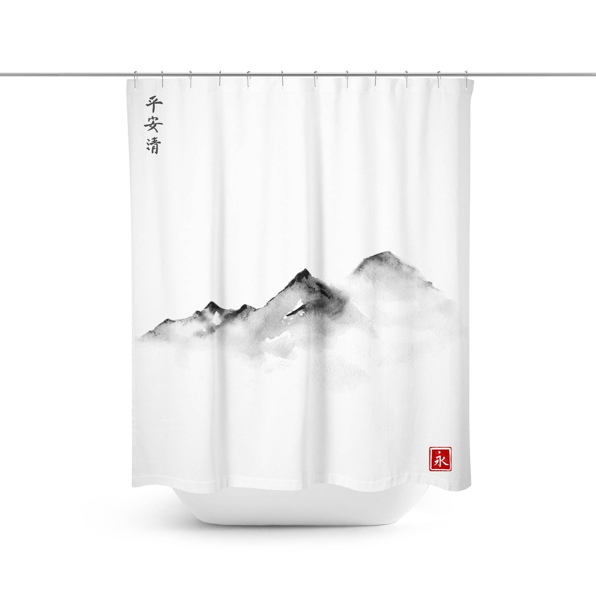 Japanese Mountain Bath Curtain-W.FRANCIS