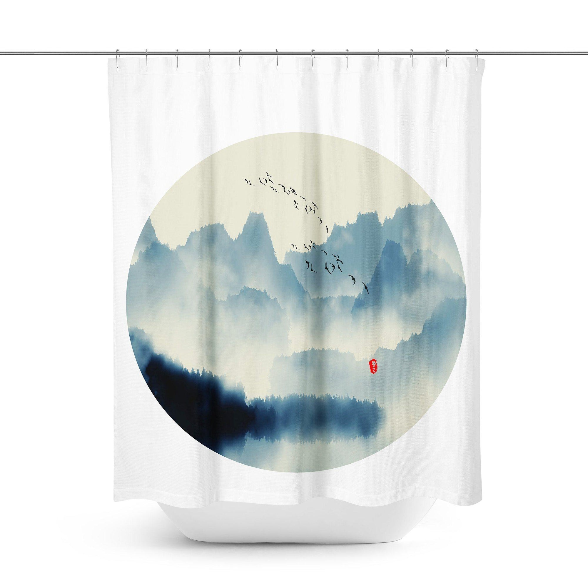 Japanese Shower Curtain-W.FRANCIS