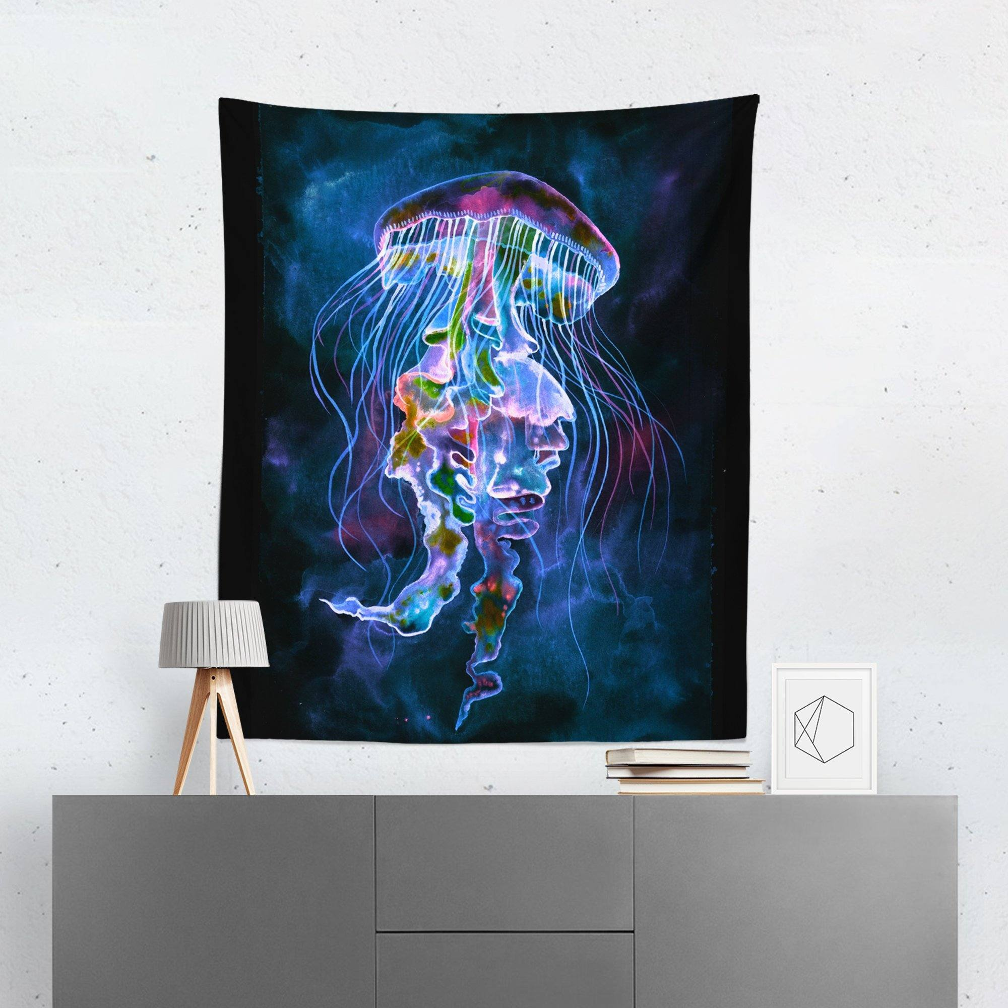 Jellyfish Wall Tapestry-W.FRANCIS