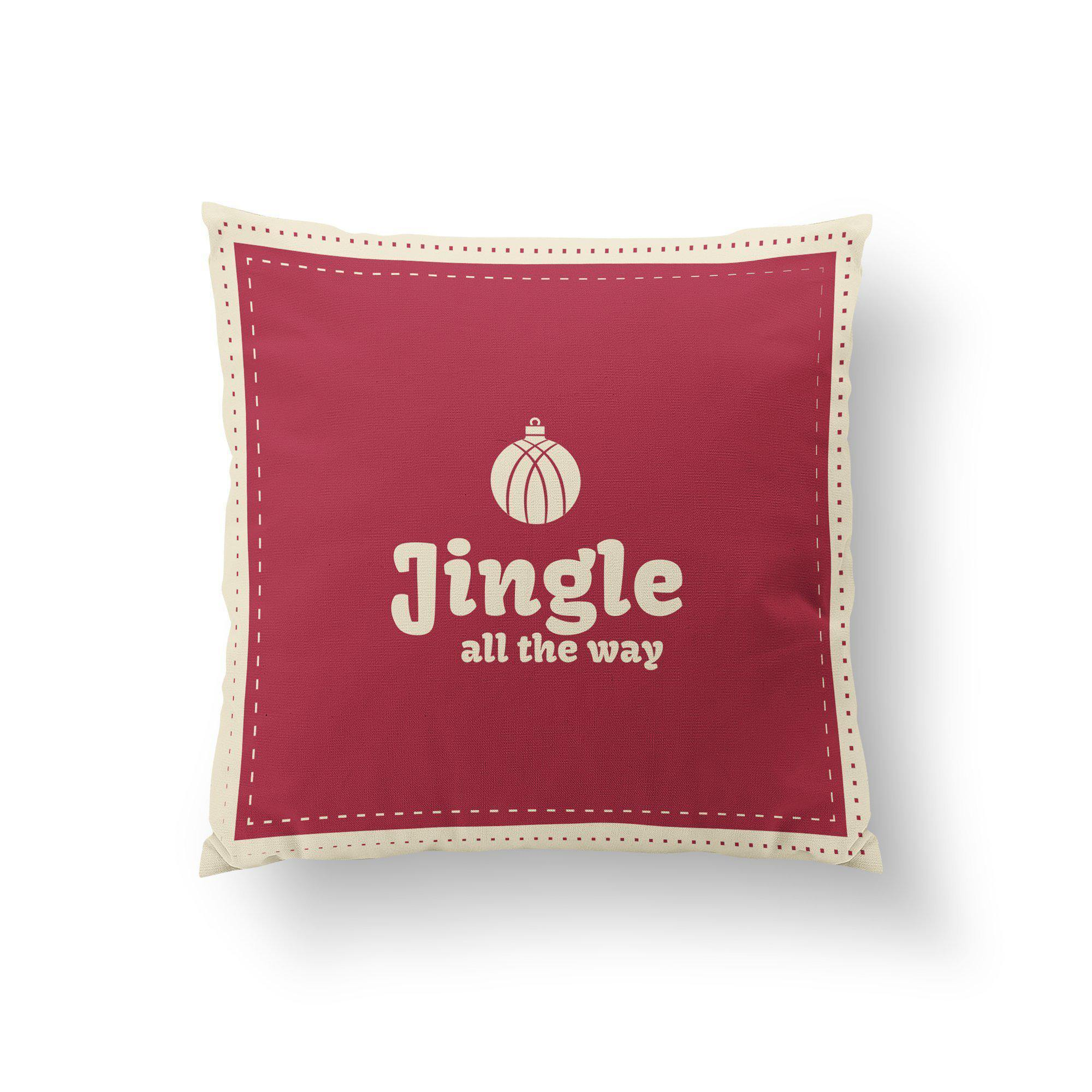 Jingle All the Way Christmas Pillow - Pillow Covers - W.FRANCIS