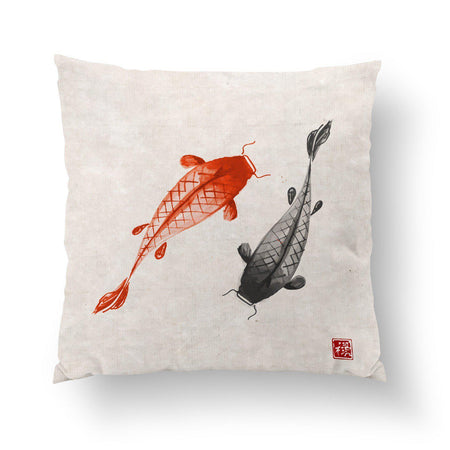 Koi Fish Pillow-W.FRANCIS