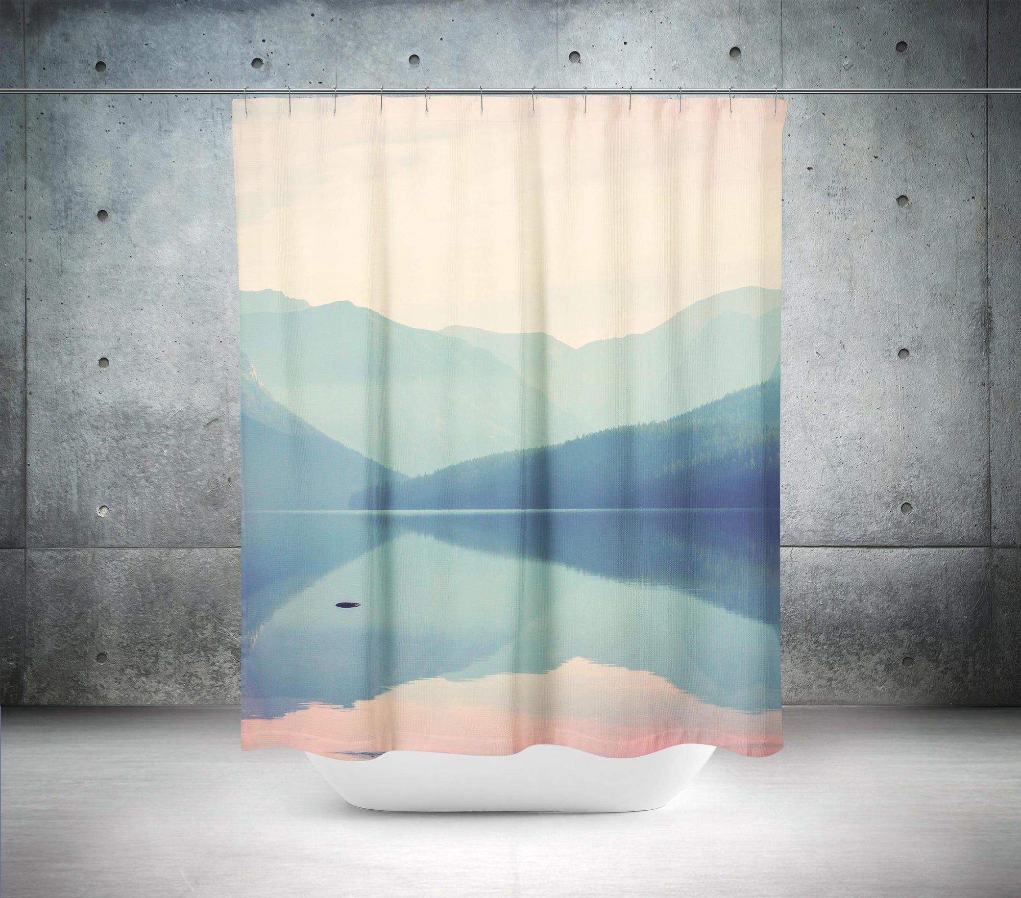 Lake Shower Curtain-W.FRANCIS