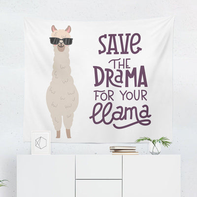 "Llama ""Save the Drama for Your Llama"" Tapestry - Tapestries - W.FRANCIS"