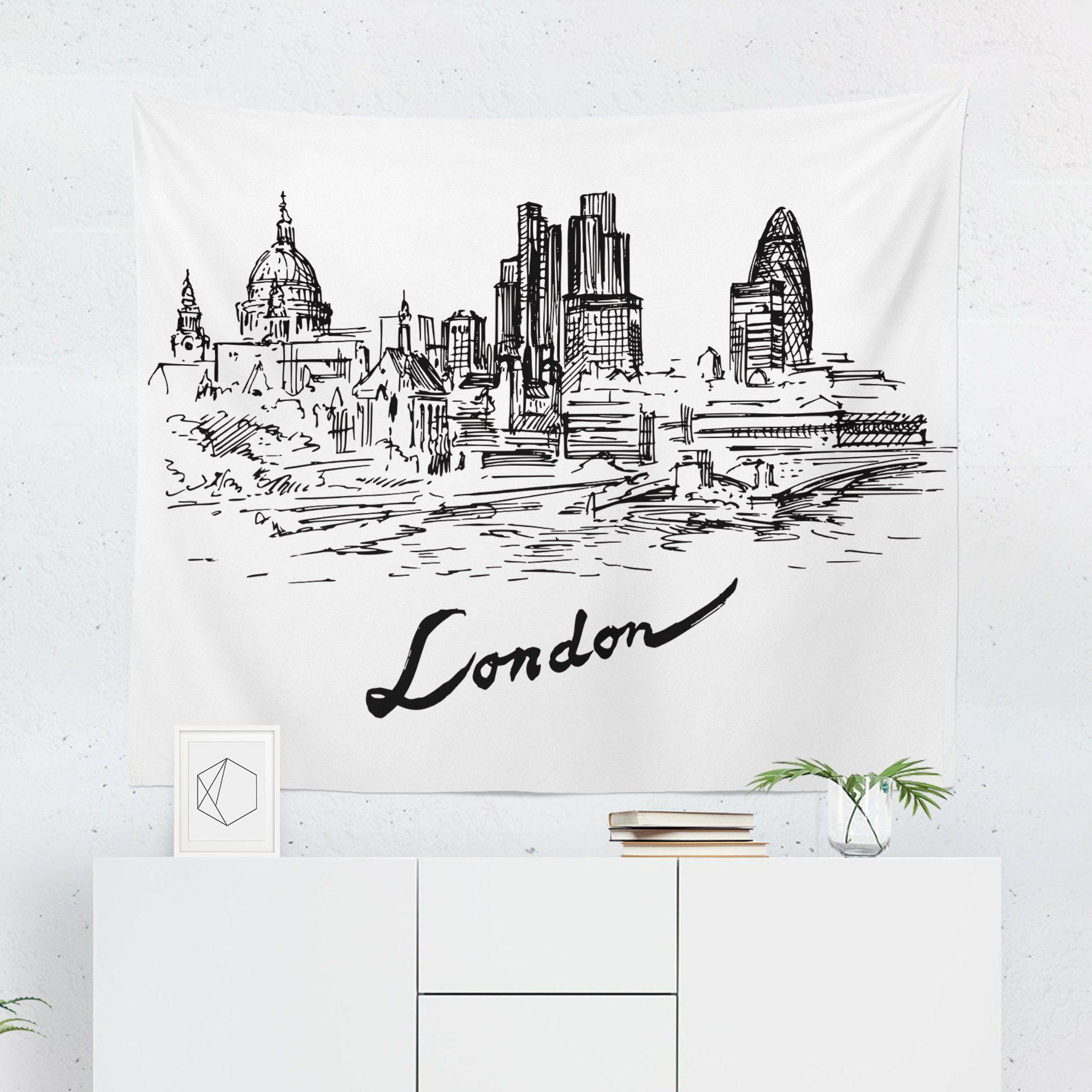 London Skyline Tapestry-W.FRANCIS