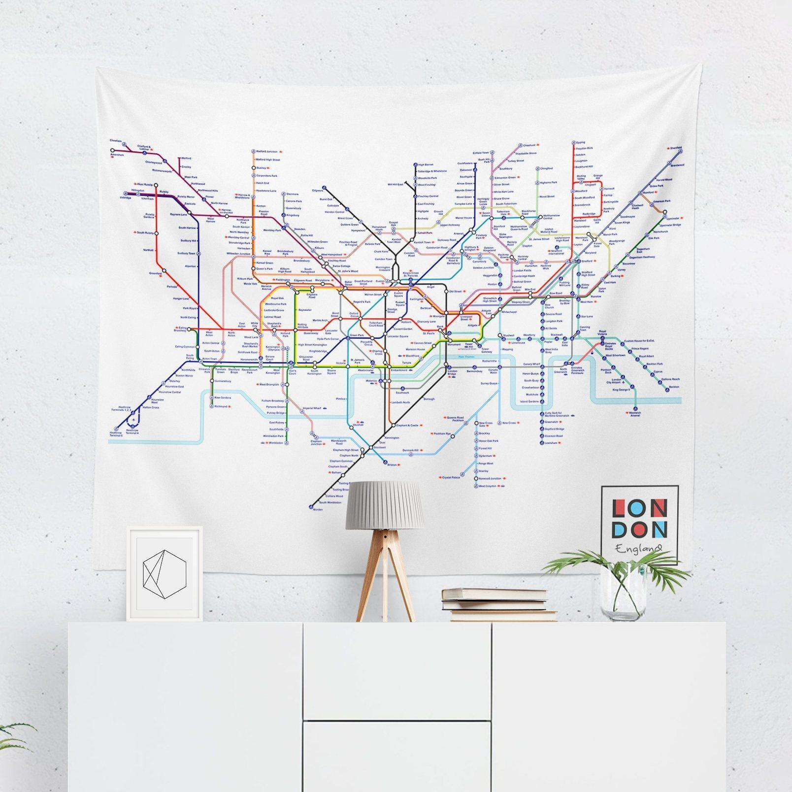 London Tube Map Tapestry-W.FRANCIS