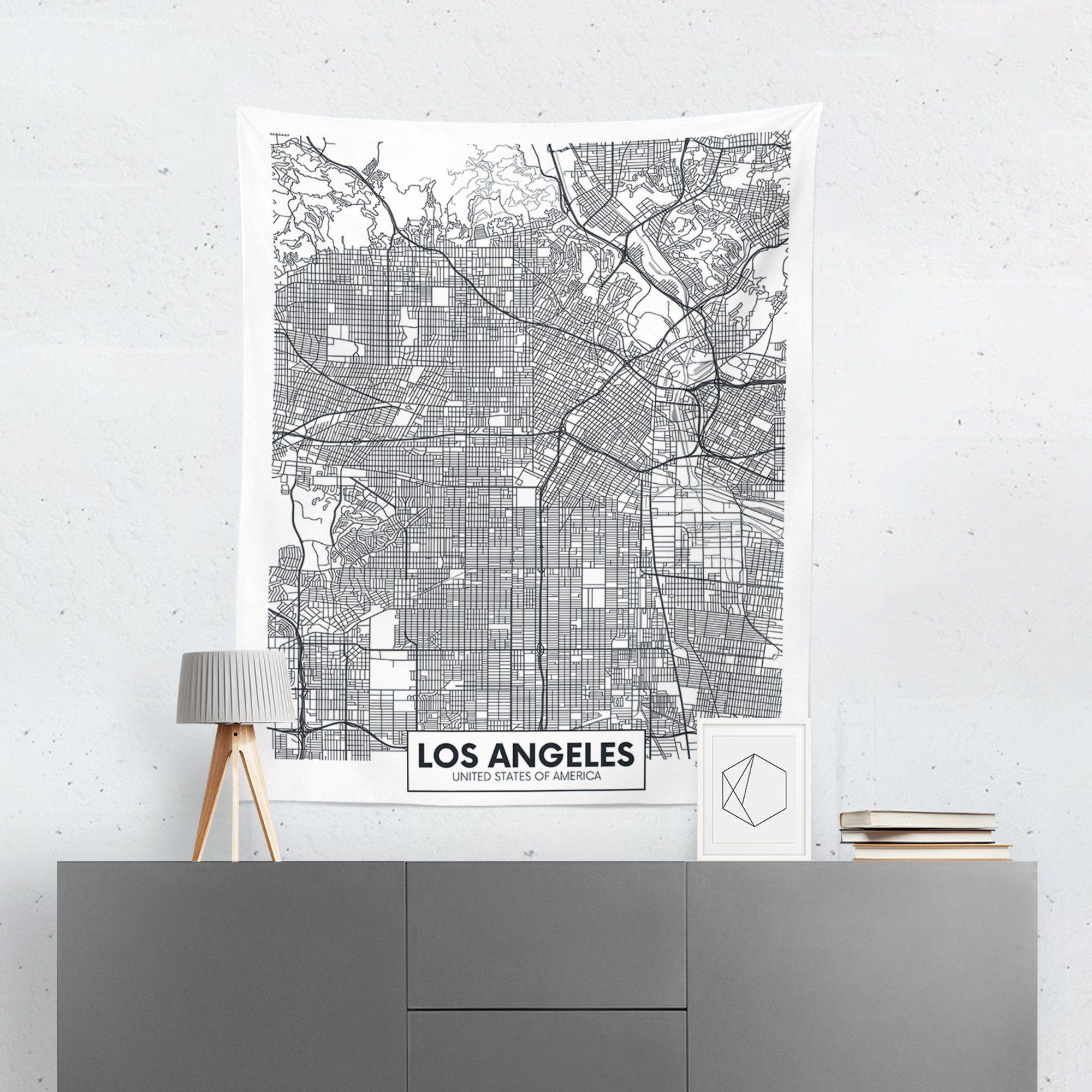 Los Angeles Map Tapestry - Tapestries - W.FRANCIS