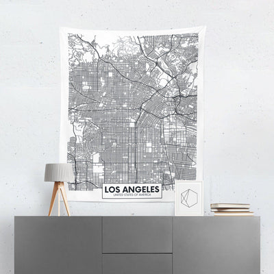 Los Angeles Map Tapestry-W.FRANCIS