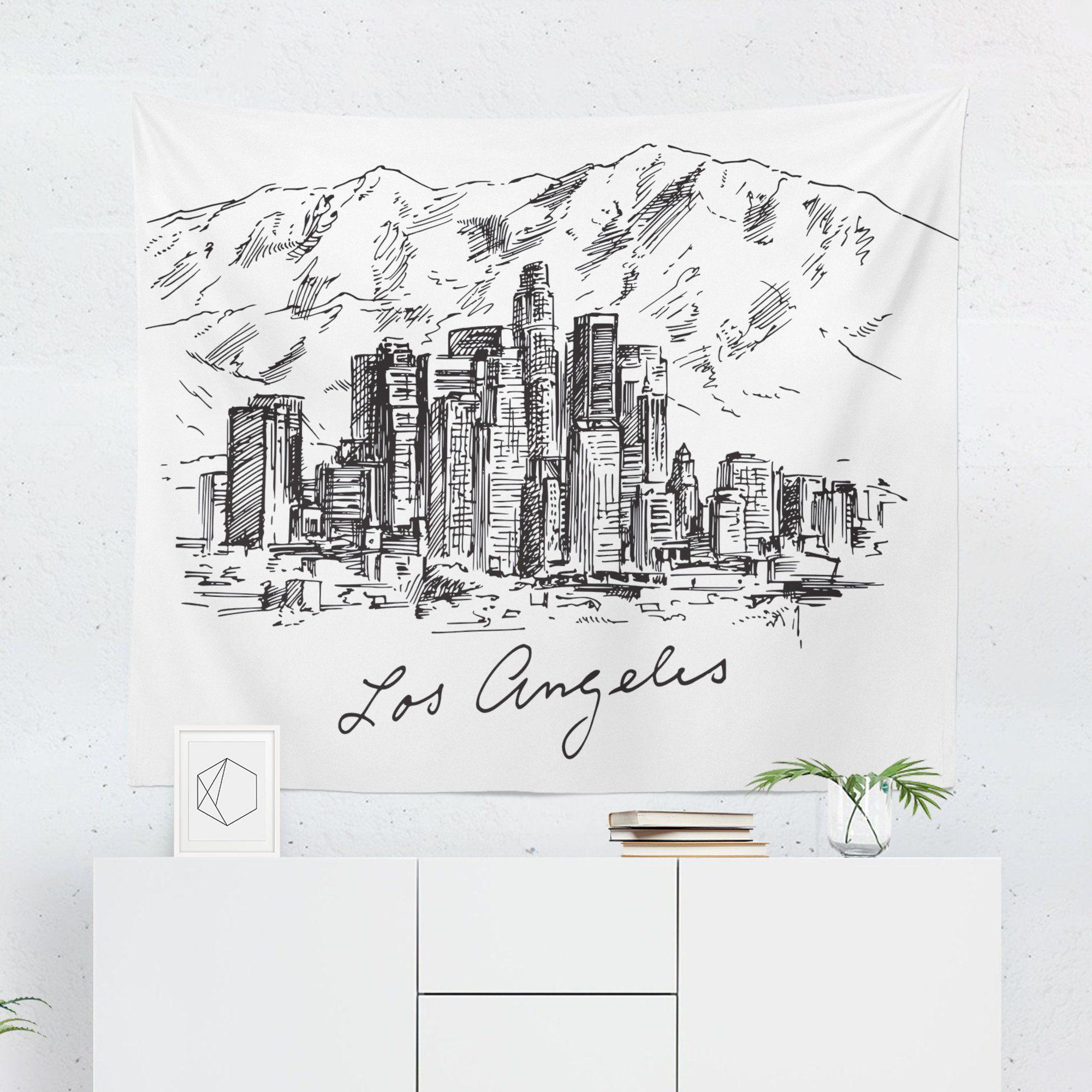 Los Angeles Skyline Tapestry - Tapestries - W.FRANCIS