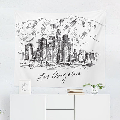 Los Angeles Skyline Tapestry-W.FRANCIS