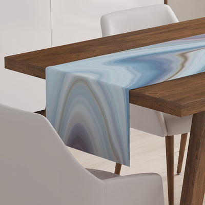 Marble Stone Effect Table Runner-W.FRANCIS