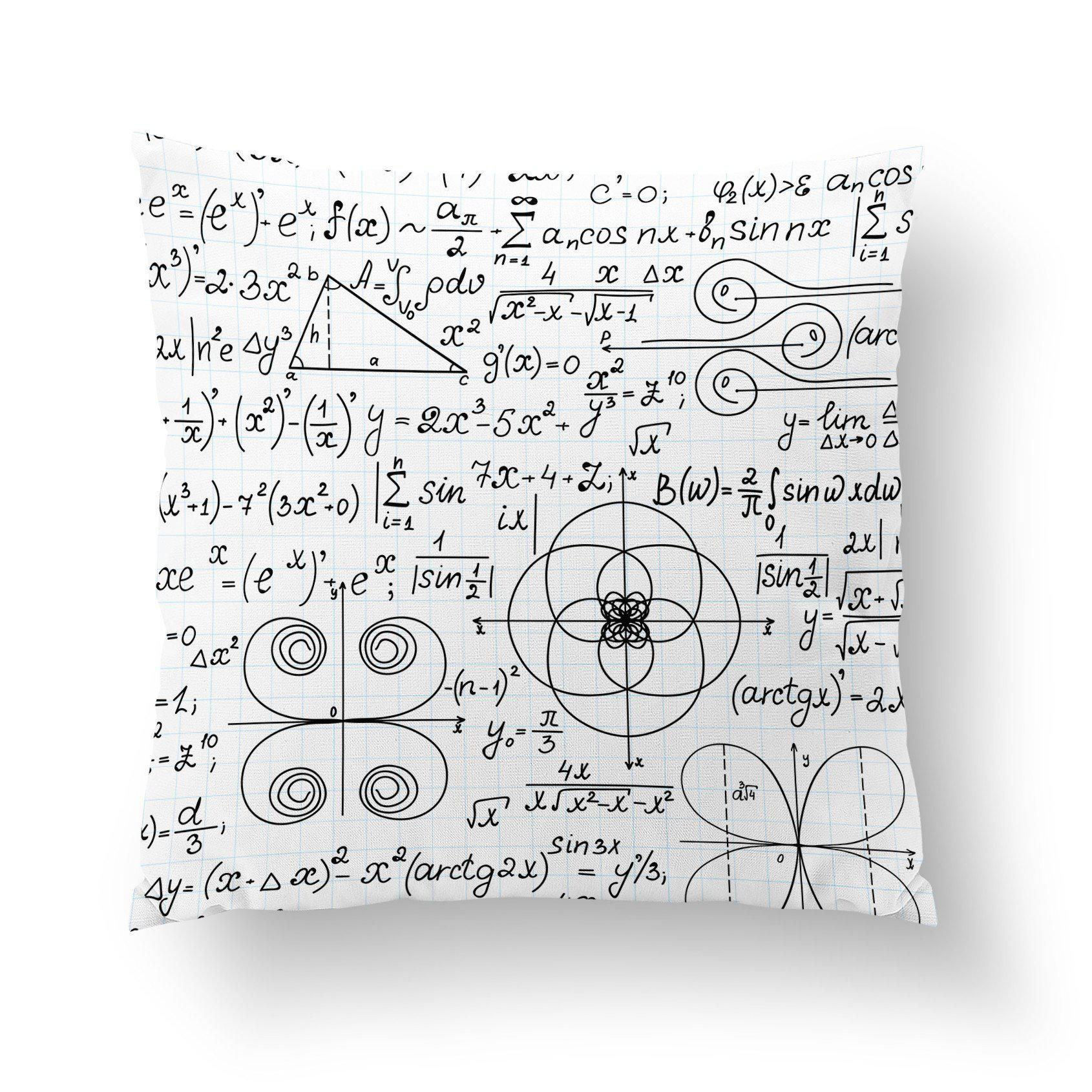 Maths Throw Pillow-W.FRANCIS