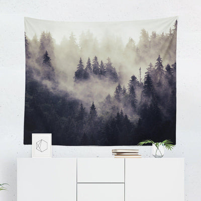 Misty Nature Forest Tapestry-W.FRANCIS