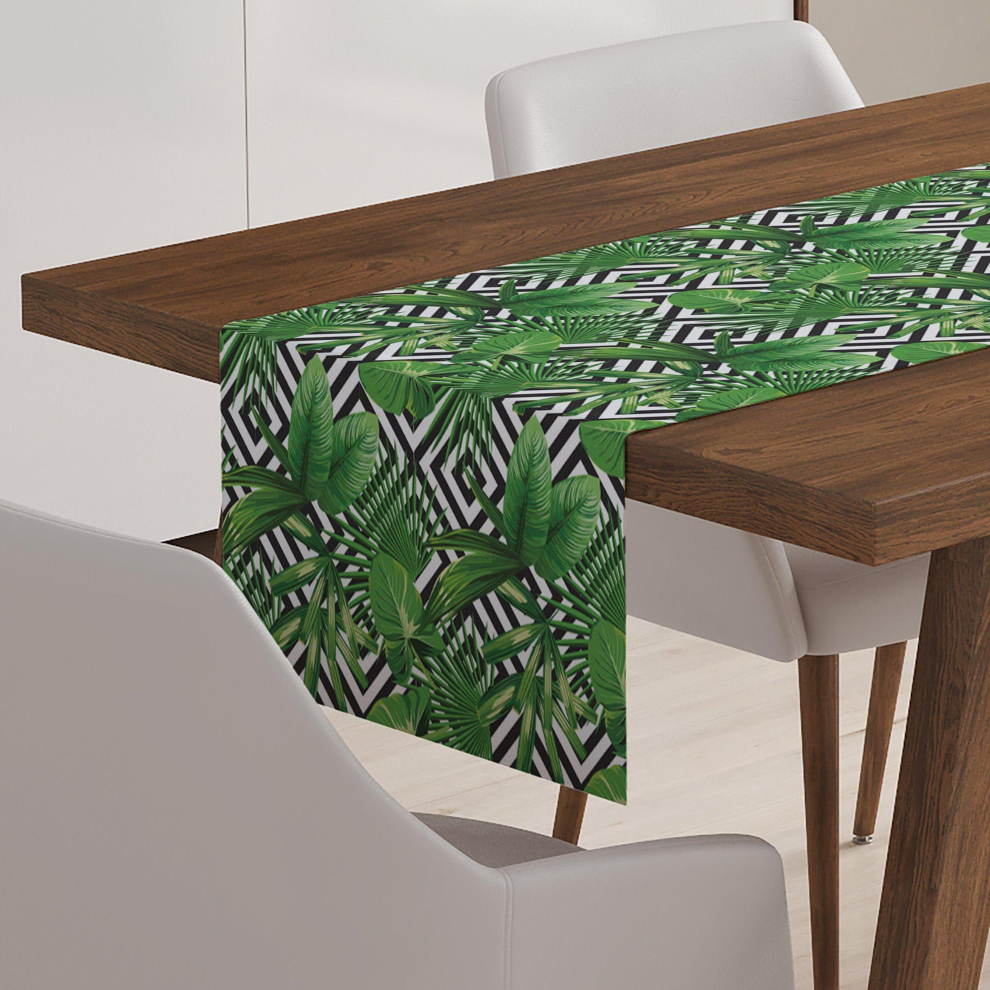 Modern Palm Leaf Table Runner-W.FRANCIS