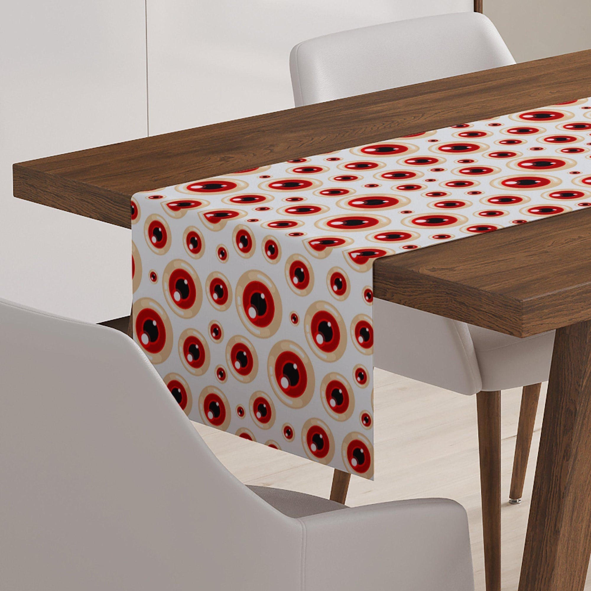 Monster Eyeball Halloween Table Runner-W.FRANCIS