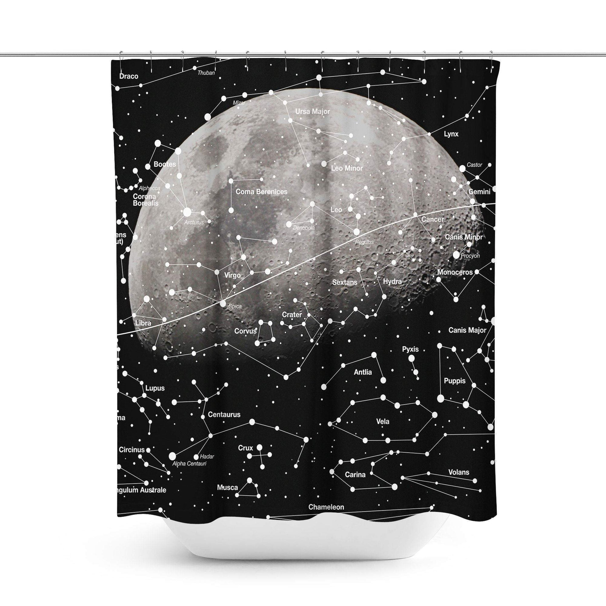 Moon Shower Curtain - Shower Curtains - W.FRANCIS