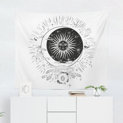 Moon Symbol Tapestry-W.FRANCIS