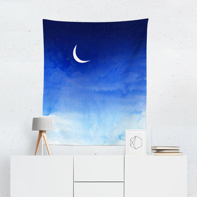 Moon Wall Tapestry-W.FRANCIS