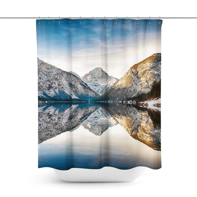 Mountain Lake Shower Curtain-W.FRANCIS