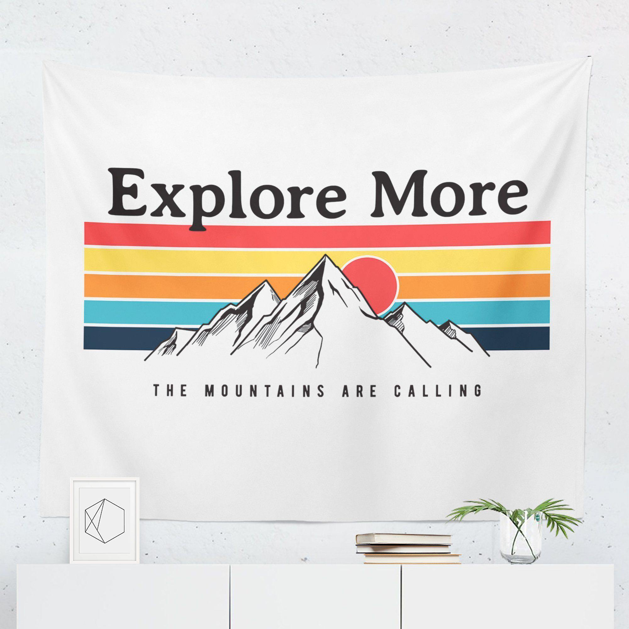 Mountain Wanderlust Tapestry-W.FRANCIS