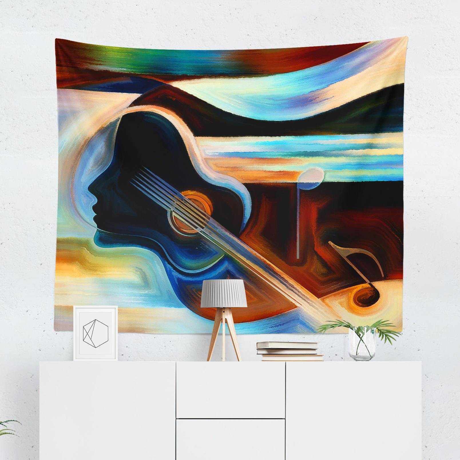 Music Wall Tapestry-W.FRANCIS