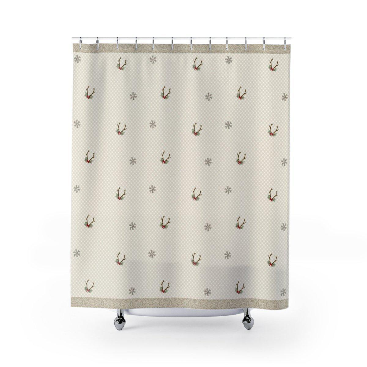 Neutral Christmas Shower Curtain - Shower Curtains - W.FRANCIS