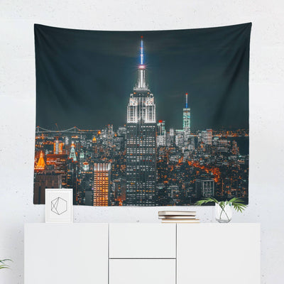 New York Night City Tapestry-W.FRANCIS