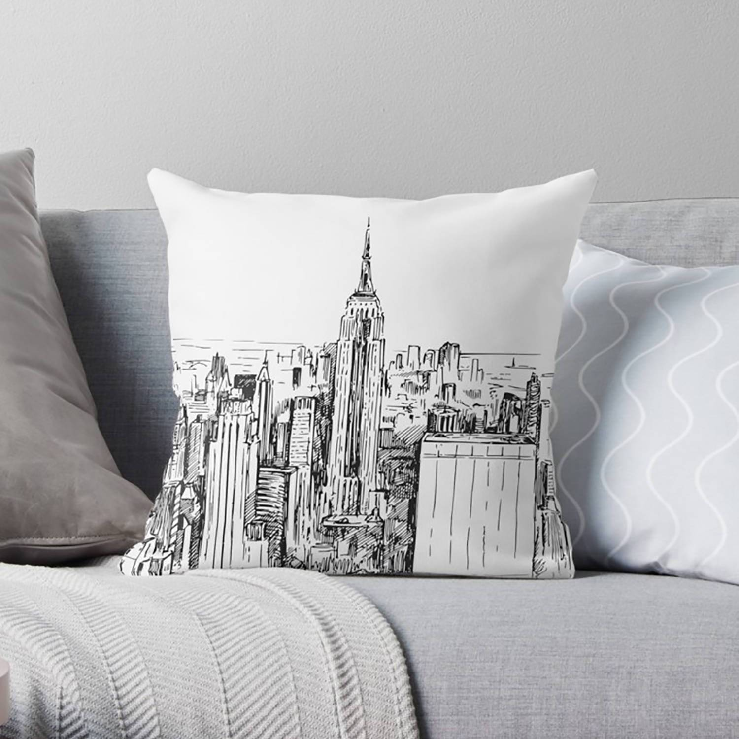 New York Throw Pillow-W.FRANCIS