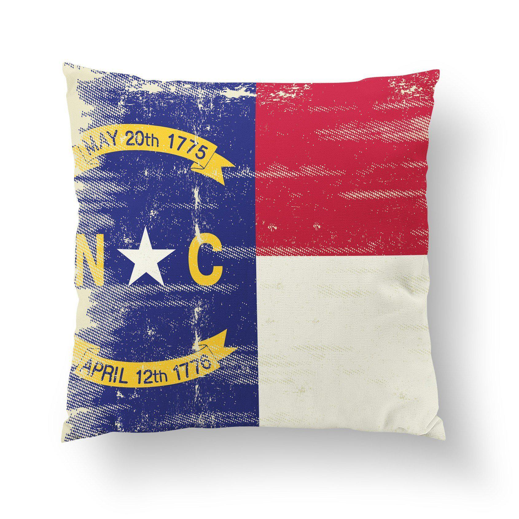 North Carolina Throw Pillow-W.FRANCIS