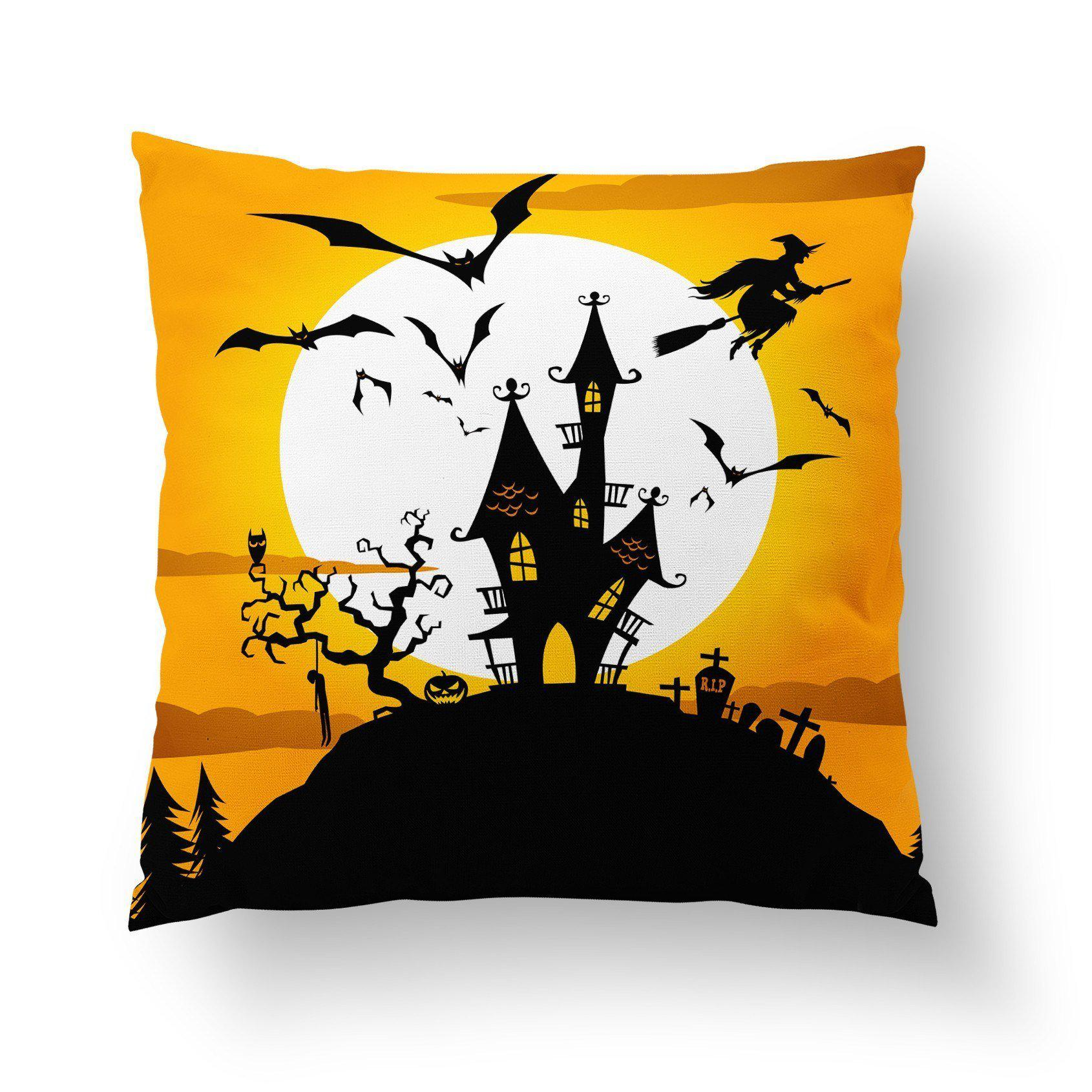 Orange Halloween Pillow Cover - Pillow Covers - W.FRANCIS