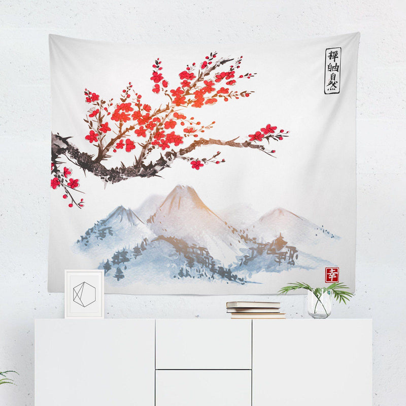 Oriental Mountain Wall Tapestry-W.FRANCIS