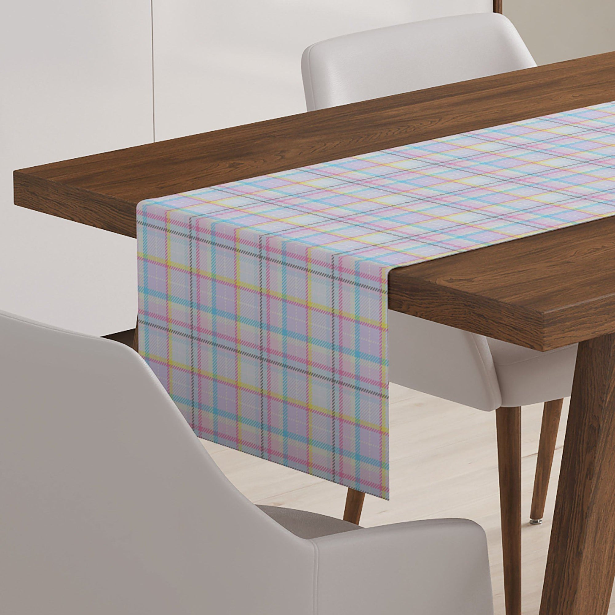 Pastel Plaid Table Runner-W.FRANCIS