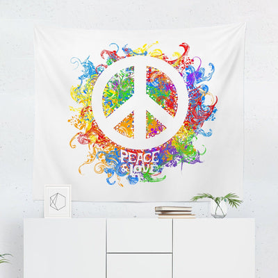 Peace Sign Tapestry-W.FRANCIS