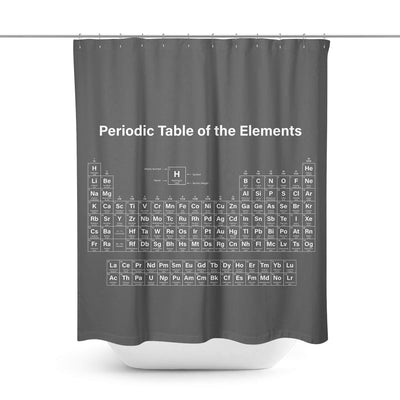 Periodic Table Shower Curtain-W.FRANCIS