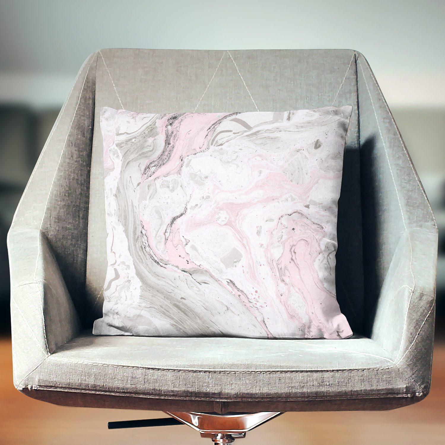 Pink Marble Pillow-W.FRANCIS
