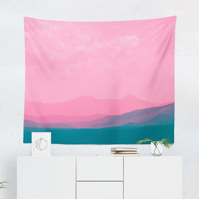 Pink Mountain Tapestry-W.FRANCIS