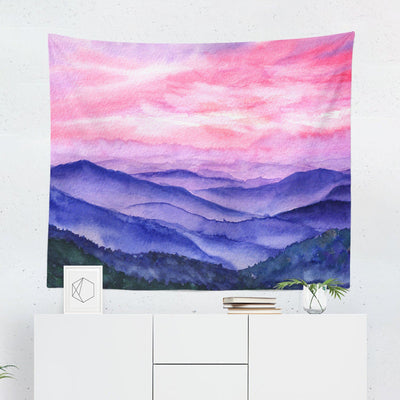 Pink Mountain Wall Tapestry - Tapestries - W.FRANCIS