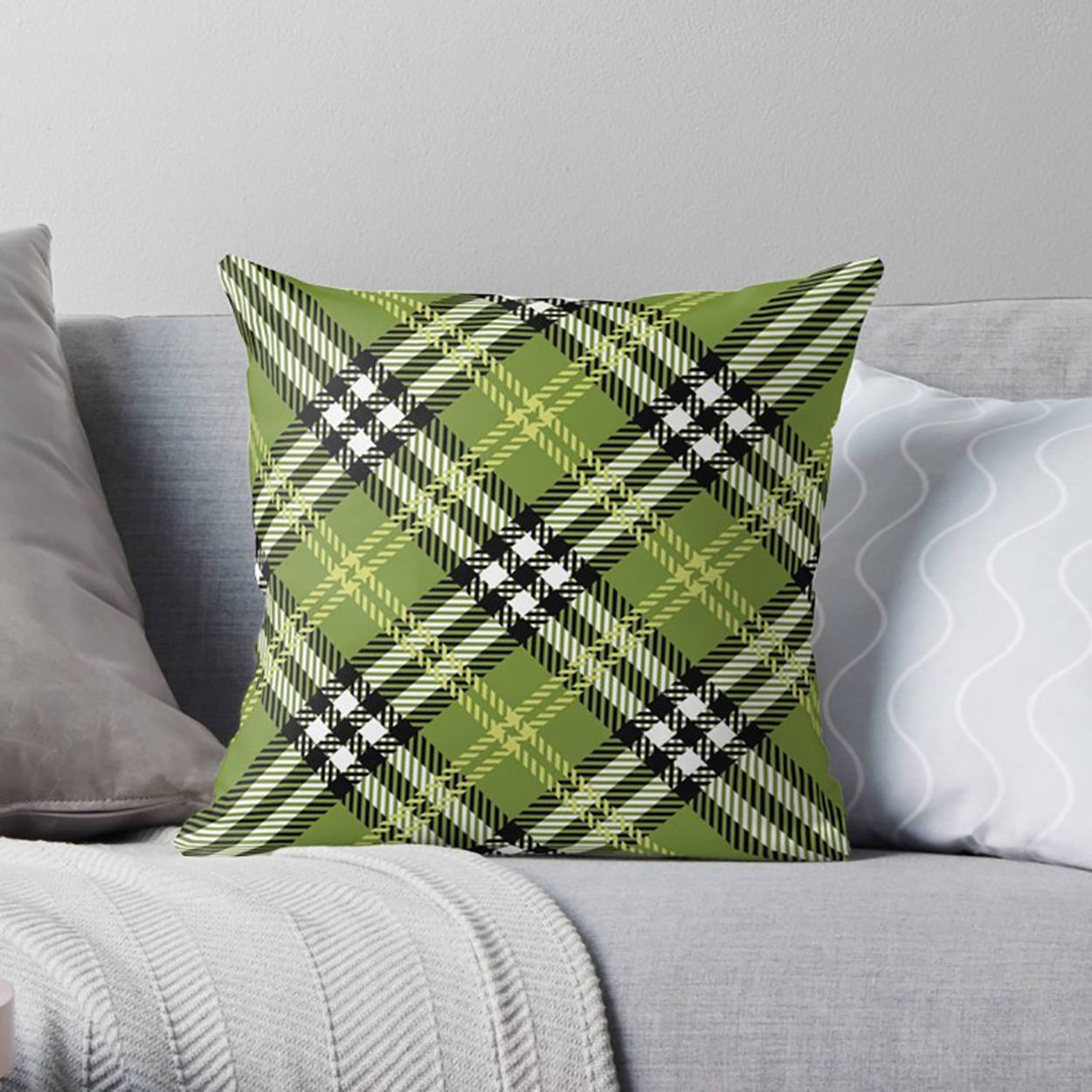 Plaid Pillow Cover-W.FRANCIS