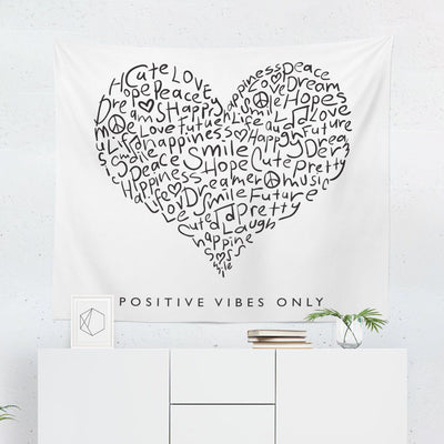 Positive Vibes Tapestry-W.FRANCIS