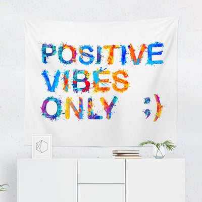 Postive Vibes Wall Tapestry-W.FRANCIS