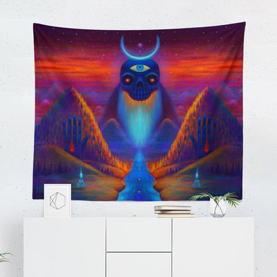 Psychedelic Wall Tapestry-W.FRANCIS