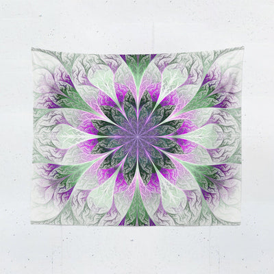 Purple Mandala Wall Tapestry-W.FRANCIS