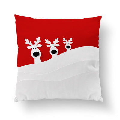 Red Christmas Pillow-W.FRANCIS