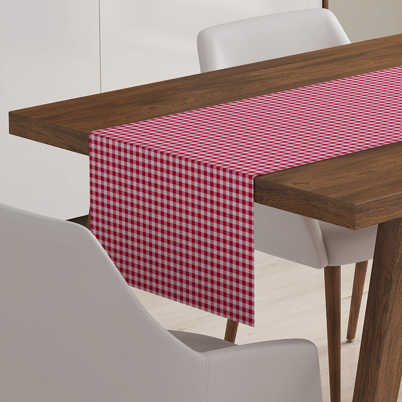 Red Gingham Table Runner-W.FRANCIS