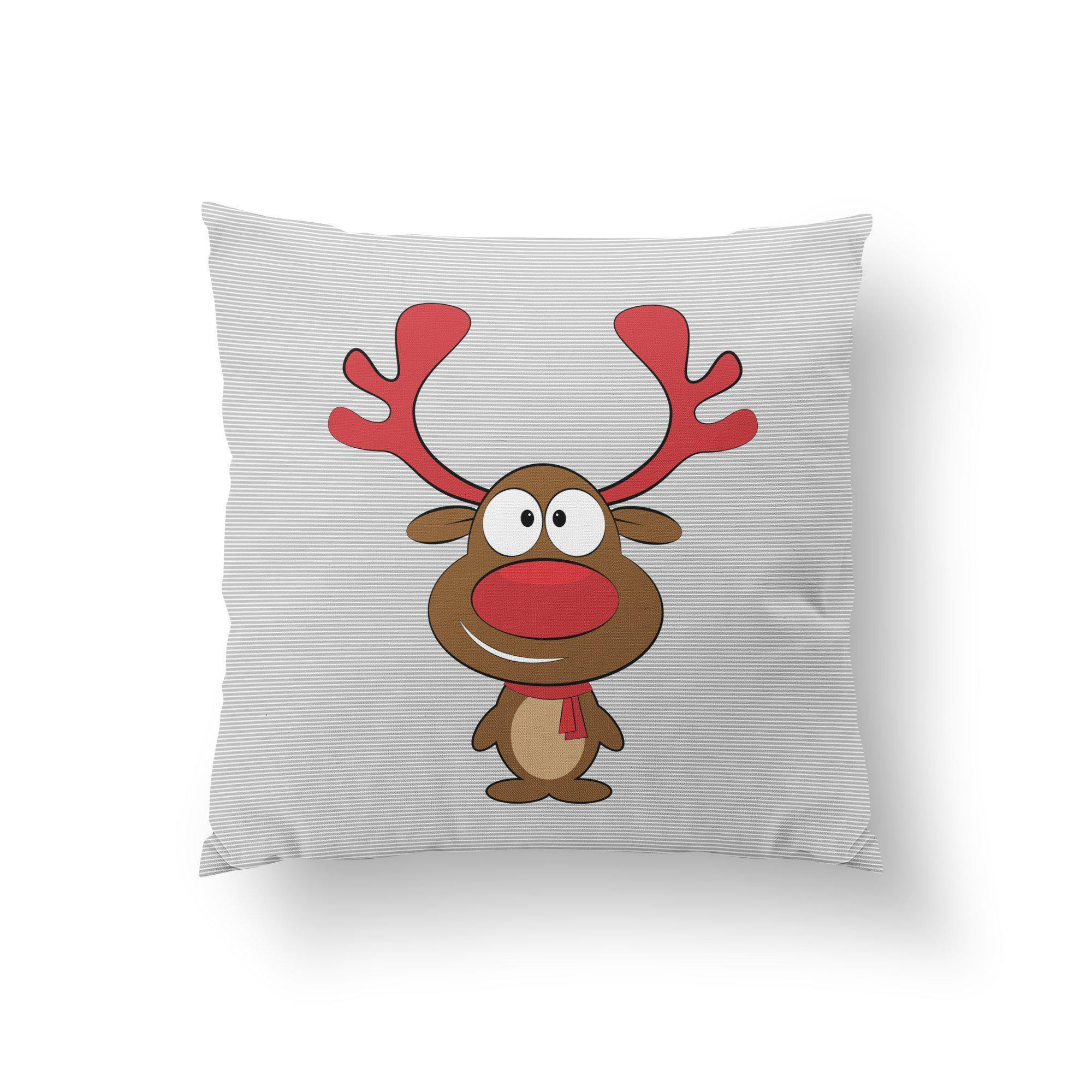 Reindeer Throw Pillow - Pillow Covers - W.FRANCIS