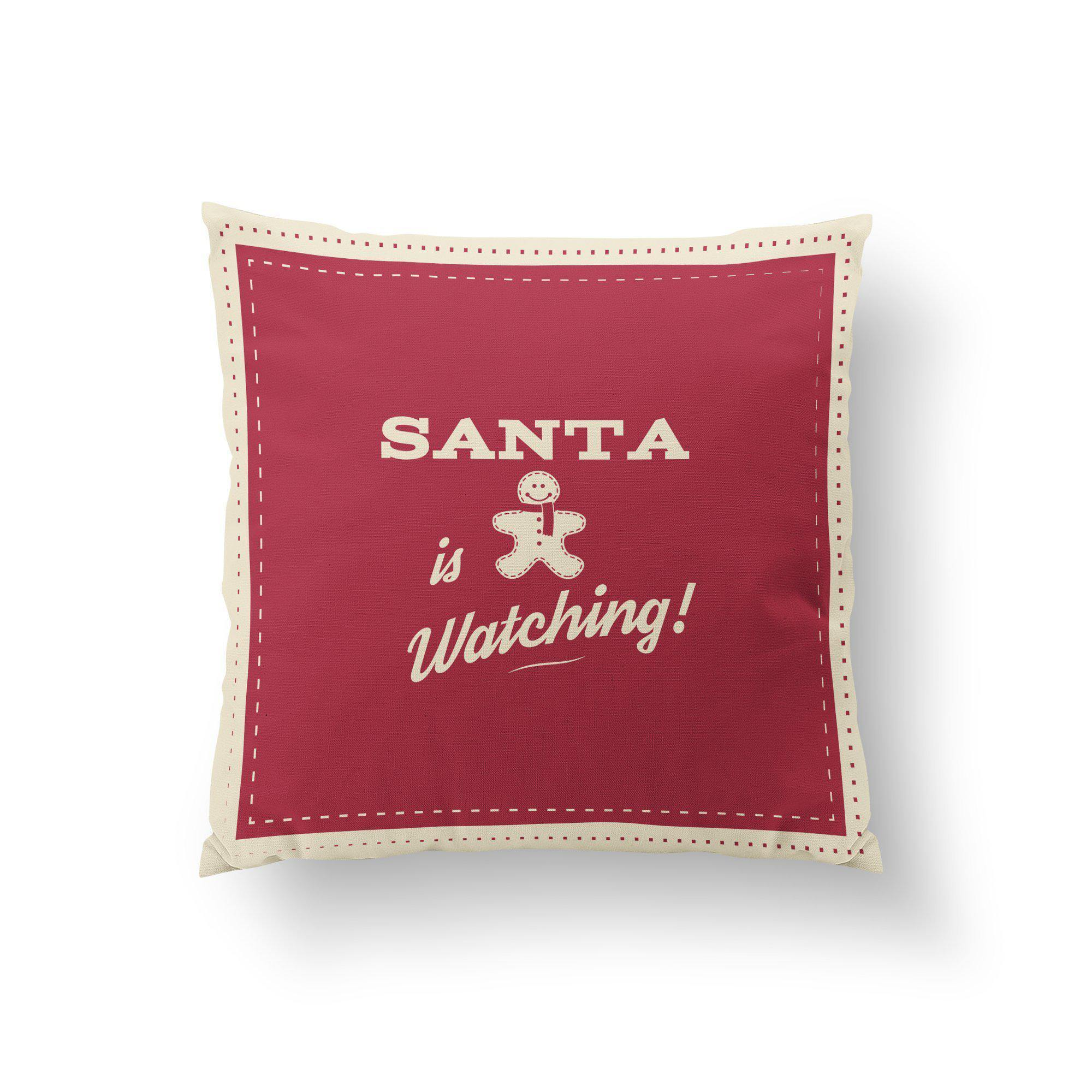 Santa is Watching Christmas Pillow - Pillow Covers - W.FRANCIS