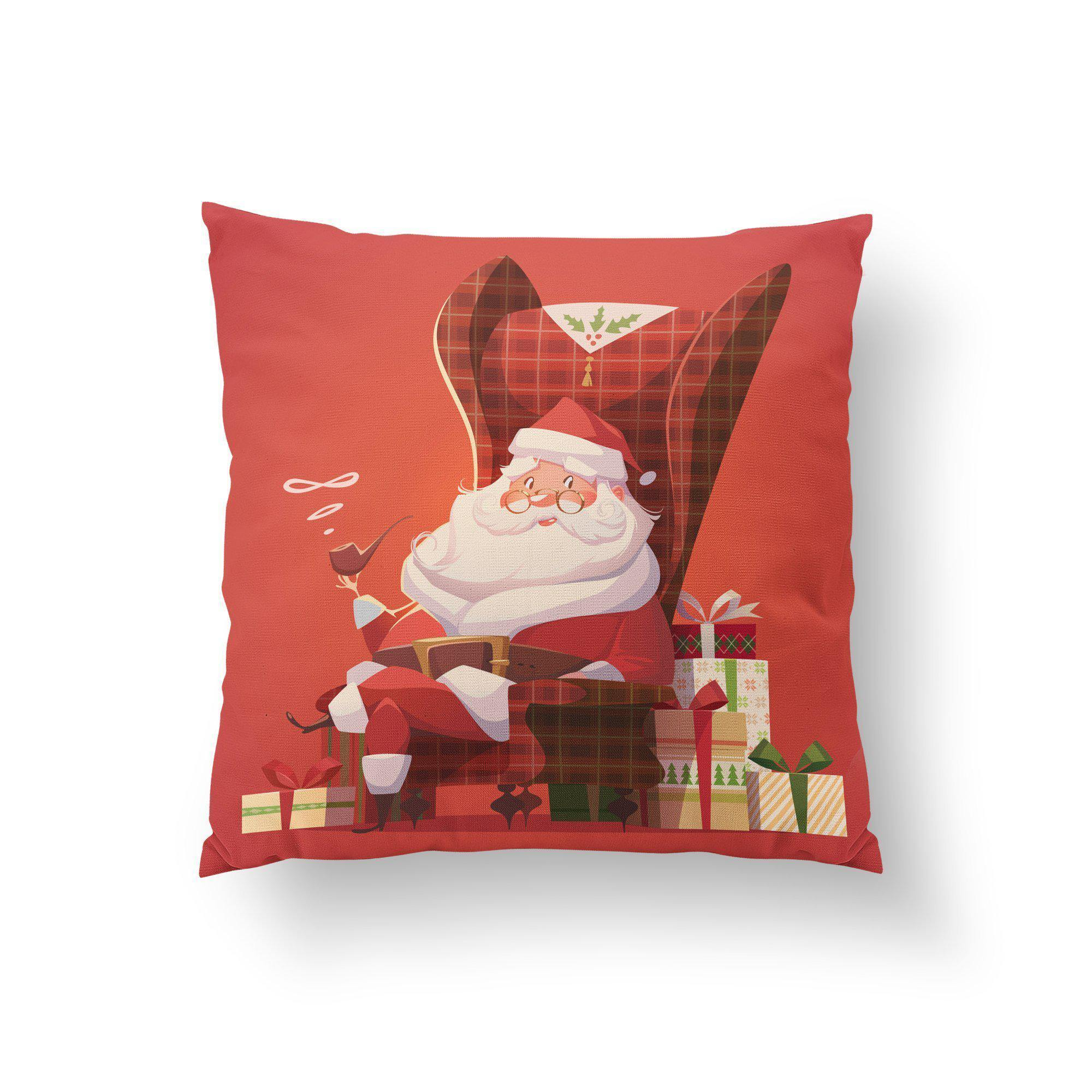 Santa's Pipe Throw Pillow - Pillow Covers - W.FRANCIS